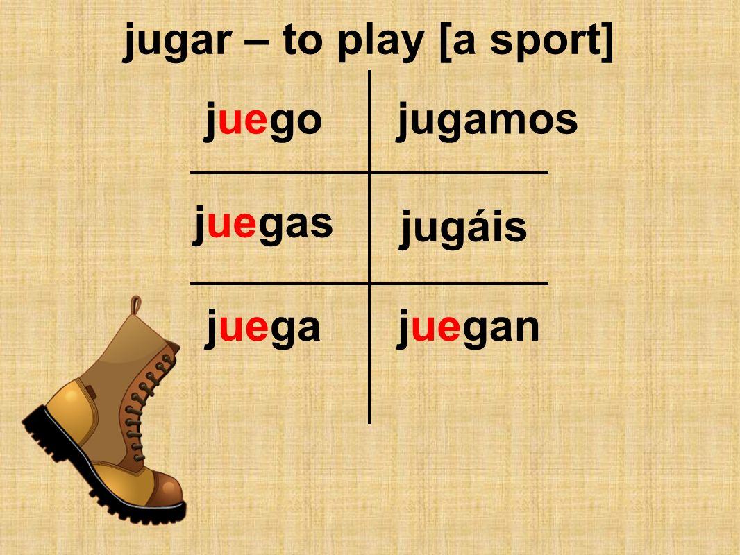 jugar – to play [a sport]